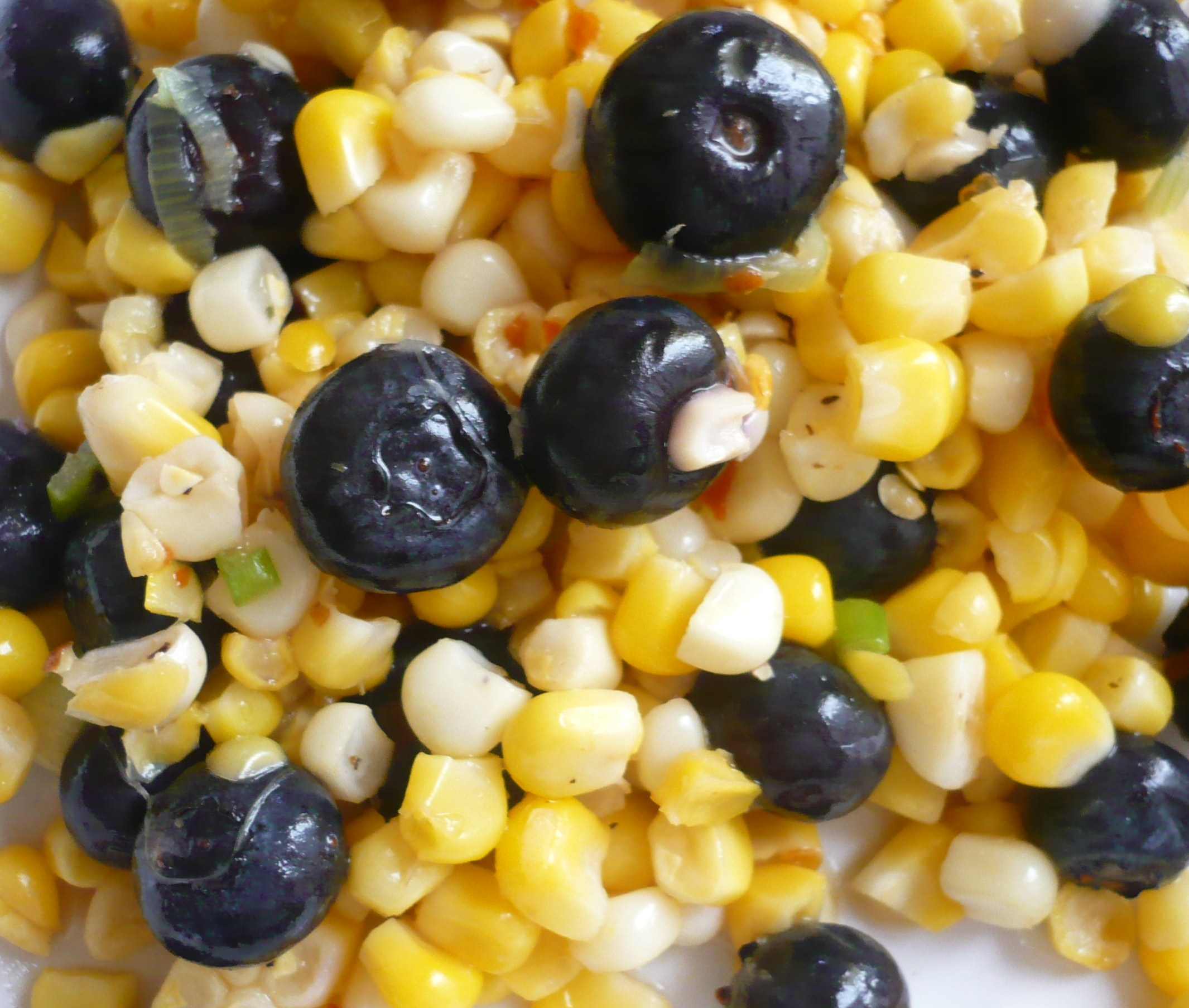 Corn and Blueberry Salad | Foodieforager's Blog